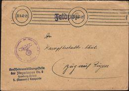 Germany - FELDPOST-Luftwaffe, Kraftfahrausbildung Stelle Der Fliegertruppe Nr. 8 HAMBURG - Osdorf, 1 Kompanie 1944. - Cartas