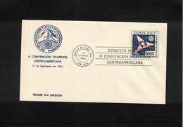 Costa Rica 1962 Centralamerican Philatelic Convention FDC - Costa Rica