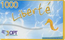 """Nouvelle Telecarte Liberté 1000 De Nouvelle Caledonie """" Hippocampe """" Serie 1 - Nouvelle-Calédonie"""