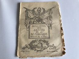 BULLETIN Des ARMÉES De La REPUBLIQUE N°263 - 12 Septembre 1917 - Guerra 1914-18