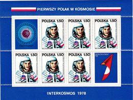 Polen, 1978,  A 2563 Block 70,  MNH **,   Interkosmosprogramm: Erster Polnischer Kosmonaut. Intercosmic Program - Blocks & Sheetlets & Panes