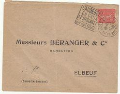 ESC Daguin Caudebec En Caux  1930 - Marcophilie (Lettres)