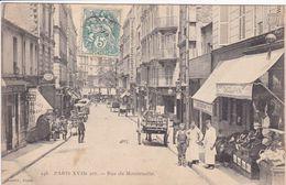 75 PARIS Rue Montenotte N°148 Façade épicerie Avec Personnel ,façade Gauloise Vinicole ,attelage Charette - Arrondissement: 17