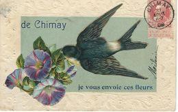 De CHIMAY Je Vous Envoie Ces Fleurs - Cachet De La Poste 1908 - Chimay