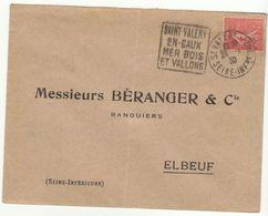 ESC Daguin Saint Valéry En Caux 1930 - Marcophilie (Lettres)