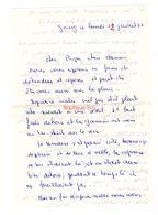 Lettre Manuscrite 1976 Jouy Papa Maman Famille Malakoff Villaz Billy Ozerailles - Manuscritos