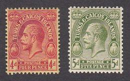 Turks & Caicos 1922  2 Values 4d, 5d    SG169, SG170    MNH   Superb - Turks And Caicos