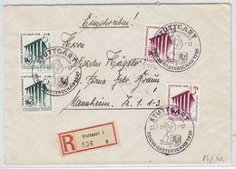 Deutsches Reich R-Brief Mit Satz MEF SST+AKs - Lettres & Documents