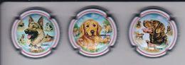 SERIE COMPLETA DE 3 PLACAS DE CAVA DE PERROS (CAPSULE) PERRO-CAN-DOG - Sparkling Wine