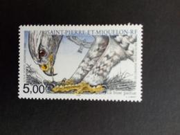 SAINT-PIERRE ET MIQUELON MI-NR. 821 POSTFRISCH(MINT) ZUGVÖGEL 2000 RAUHFUSSBUSSARD - St.Pierre & Miquelon