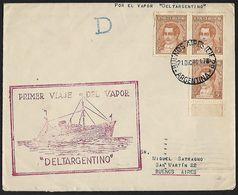 1940 - ARGENTINA - Cover + Michel 408 II X - Y&T 368 [Mariano Moreno] + BUENOS AIRES & NEW ORLEANS - Argentina
