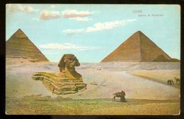 EGYPT * CPA *  POSTCARD * CAIRO SPHINX ET PYRAMIDES  (3) - Egypte