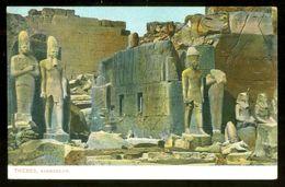 EGYPT * CPA *  POSTCARD * THEBES RAMESSEUM  (4) - Egypte