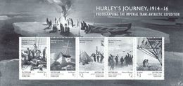 Antarctic. AAT 2016. Hurley's Journey 1914-16. BL. MNH.27935 - Nuevos