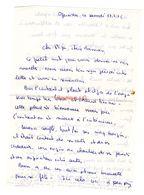 Lettre Manuscrite 1976 Ozerailles Papa Maman Famille Billy Thionville - Manuscritos