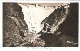 BARRAGE DU CHAMBON . TRAVAUX .  PHOTO ODDOUX - France