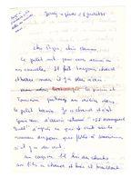 Lettre Manuscrite 1976 Jouy Papa Maman Famille Villaz Ozerailles - Manuscritos