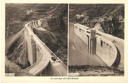 BARRAGE DU CHAMBON . DEUX VUES AVRIL ET AOUT 1935 . PHOTO ODDOUX - France