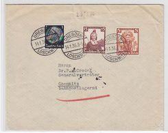 """Deutsches Reich Brief Mit """"Trachtenfrankatur"""" Und Chemnitz Bahnpostlagernd - Duitsland"""