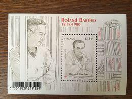2015 FRANCE ROLAND BARTHES 5006 - Blocs & Feuillets
