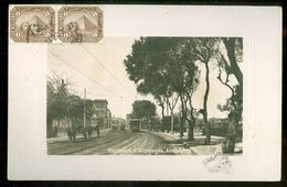 EGYPT * CPA *  POSTCARD * BOULEVARD D' ALLEMAGNE ALEXANDRIE * TRAM * GELOPEN IN 1910 Naar REIMS FRANCE (6) - Egypte