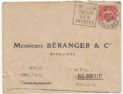 ESC Daguin Honfleur 1927 - Marcophilie (Lettres)