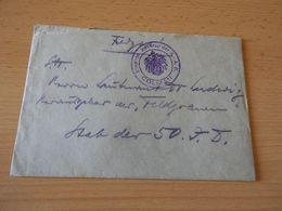 Feldpostbrief   Lazarett Der A.-A..B.Colmar  1917 WK I - Documenten