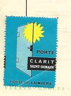 Facture Avec Vignette CLARIT ST GOBAIN 1961 / 88 SAINT-DIE / MIROITERIES VOSGIENNES - Vignetten (Erinnophilie)