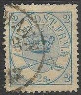 Denmark  1865  Sc#11   2s    Used  2016 Scott Value $35 - 1864-04 (Christian IX)