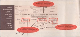 CARNET DE CHEQUE DE VIREMENT VIDE - CHEQUES POSTAUX - 1962 - Chèques & Chèques De Voyage