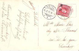 Carte De Aspelt Vers Luxembourg   Cachet ASPELT 14.08.1919 - Luxembourg