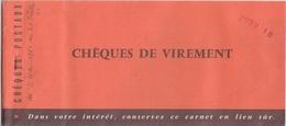 CARNET DE CHEQUE DE VIREMENT VIDE - CHEQUES POSTAUX - 1961 - Cheques & Traveler's Cheques