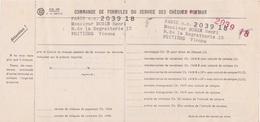 FEUILLET DE COMMANDE CHEQUES POSTAUX - 1961 - Cheques & Traveler's Cheques