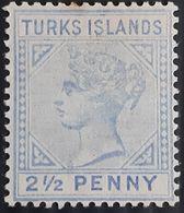 Turks Island,(1893) Michel  № 31 ,Queen Victoria, MH/* - Turks And Caicos