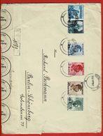 Reco Brief  (Grossformat) Rumänien - Berlin 1937 Beschädigt Und Repariert   Bahnpost Heyderbreck (Schl.) - Oderberg 330 - Deutschland