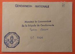 """56 - MORBIHAN  -  """"FRANCHISE POSTALE"""" Sur Courrier Gendarmerie  Brigade De Lorient * - Autres"""