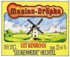 KINROOI (Limburg) - Molen / Moulin - Gaaf Etiket Van Het 'Meulen-dröpke', Een Jenever Van Leukenheide Te Hechtel - Etiquettes