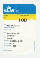 Instapkaart-boarding Pass KLM Amsterdam - Boarding Passes