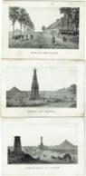Waterloo. Monuments De Prussiens + Ferme Belle -Alliance + Champ De Bataille. Lot De 3 Pièces. - Waterloo