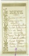 Menu. Octobre 1904. Huitres D'Ostende,  Turbot..... - Menu