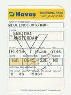 Instapkaart-boarding Pass HAVAS Enfidha Tunesie - Boarding Passes