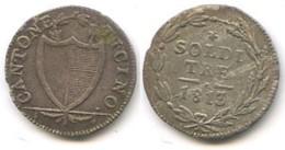 M 12 - CANTONE TICINO - SOLDI 3 - 1813 - Suiza