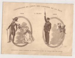 1929 CENTENAIRE DU CORPS DES GARDIENS DE LA PAIX / ILLUSTRATION MAURICE NEUMONT   N1 - Polizei