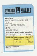 Instapkaart-boarding Pass Pulkovo Sint Petersburg - Boarding Passes