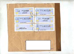 2 Devant De Lettre Cachet Sur Vignette  Curiosite Impression Variable - 2000 «Avions En Papier»