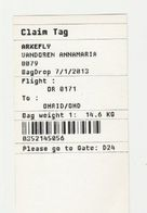 Instapkaart-boarding Pass Ohrid Macedonie - Boarding Passes