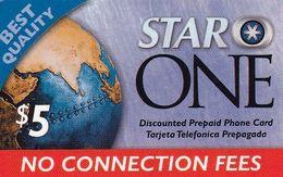 USA - Star One By Smartalk Prepaid Card $5, Used - Etats-Unis