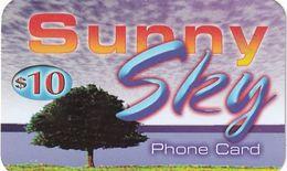 USA - Sunny Sky By Internatinational Telecom Prepaid Card $10, Used - Etats-Unis