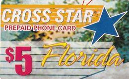 USA - Florida, Cross Star By IDT Prepaid Card $5, Used - Etats-Unis