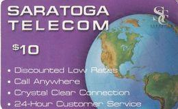 USA - Saratoga Telecom Prepaid Card $10, Used - Etats-Unis